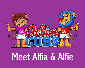 Meet Alfia and Alfie our fitness cubs. They are here to make fitness fun for kids