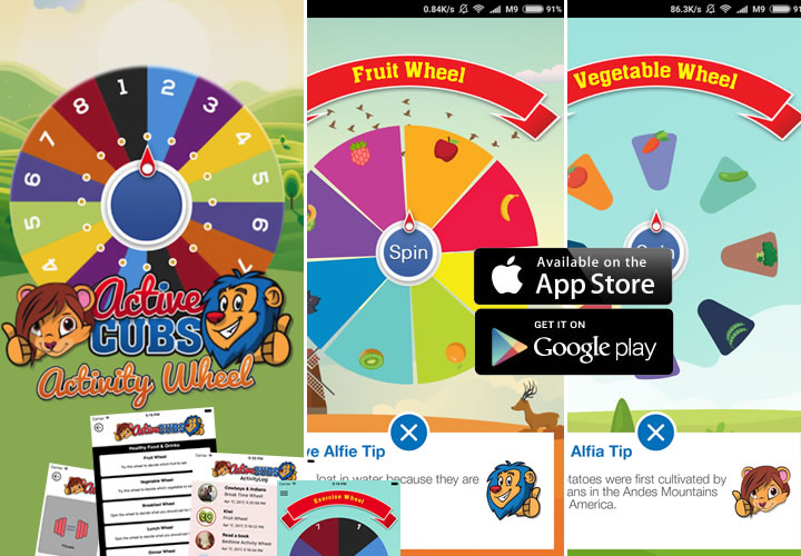 Health & Sports Activity Wheel App