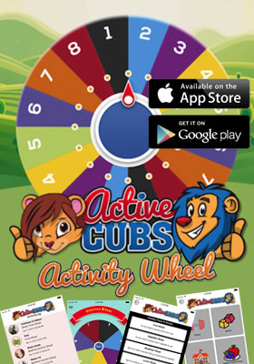 NEW! Download our Active Cubs Activity Wheel App